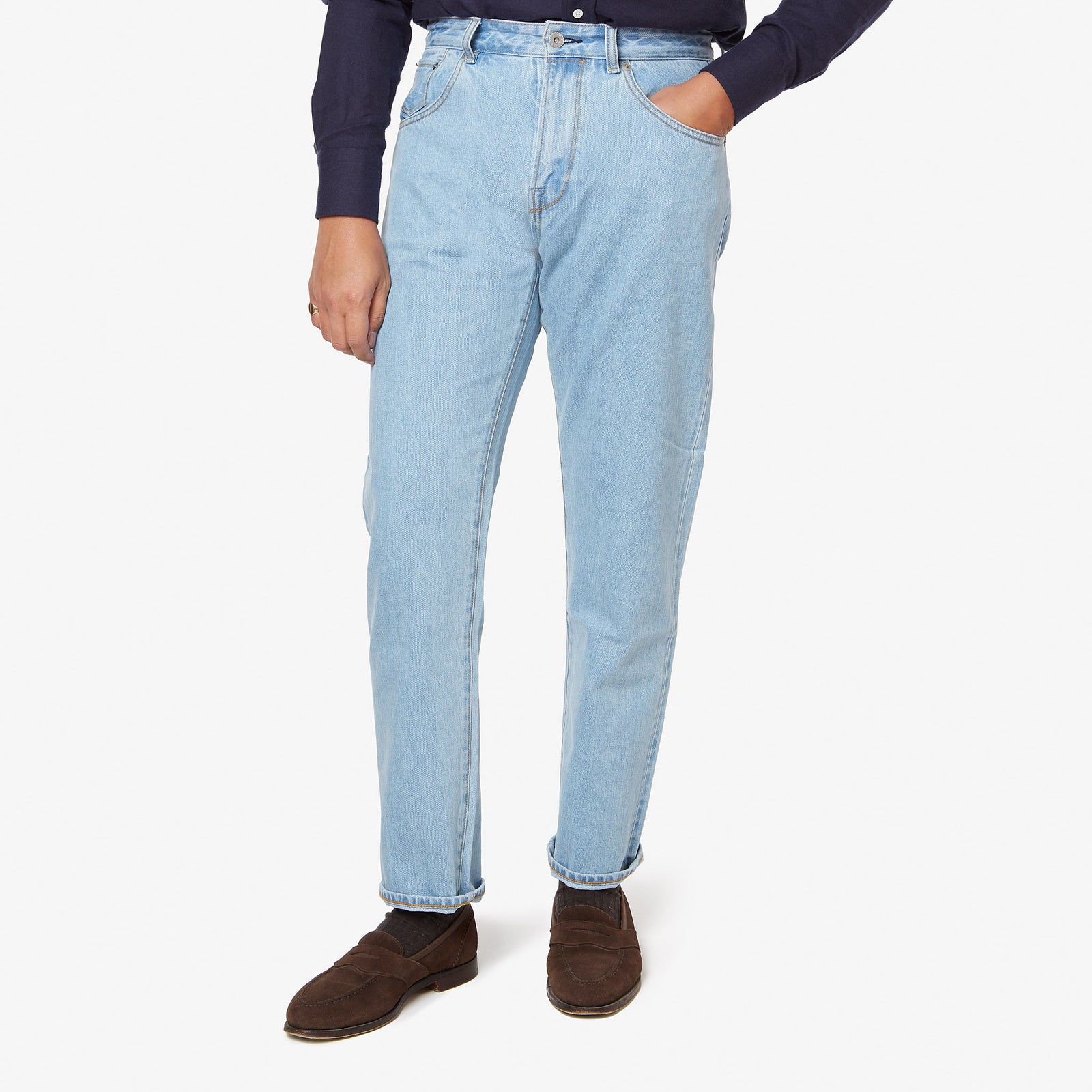 "AIC Denim Light Wash 32"" Inseam"