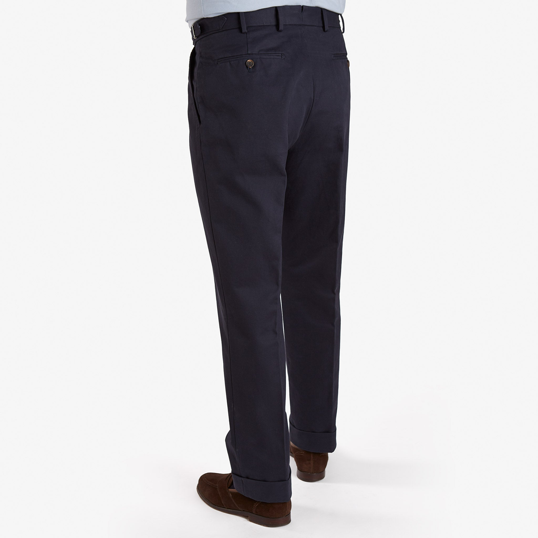 Garment Washed Cotton Trouser Navy