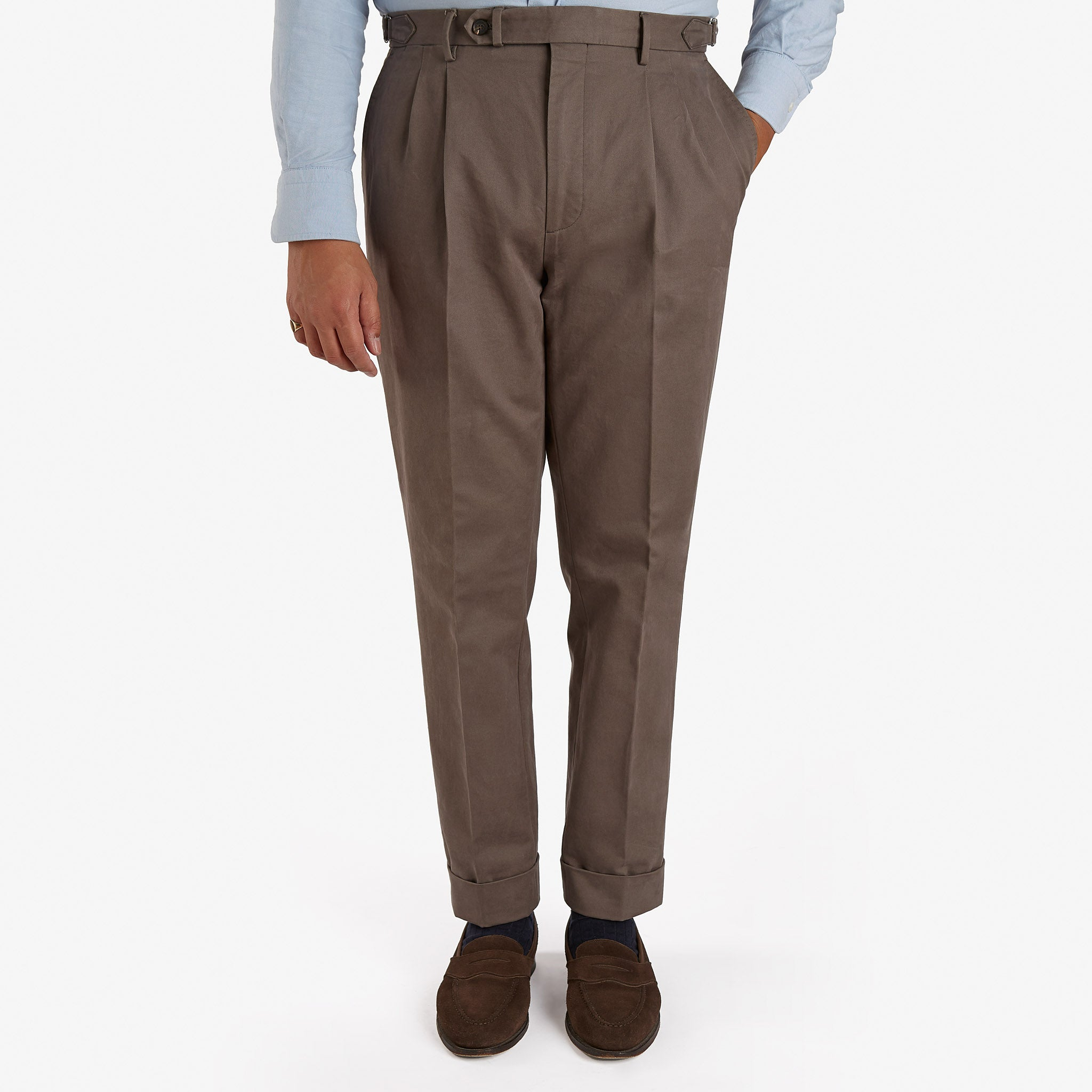 Garment Washed Cotton Trouser Tobacco