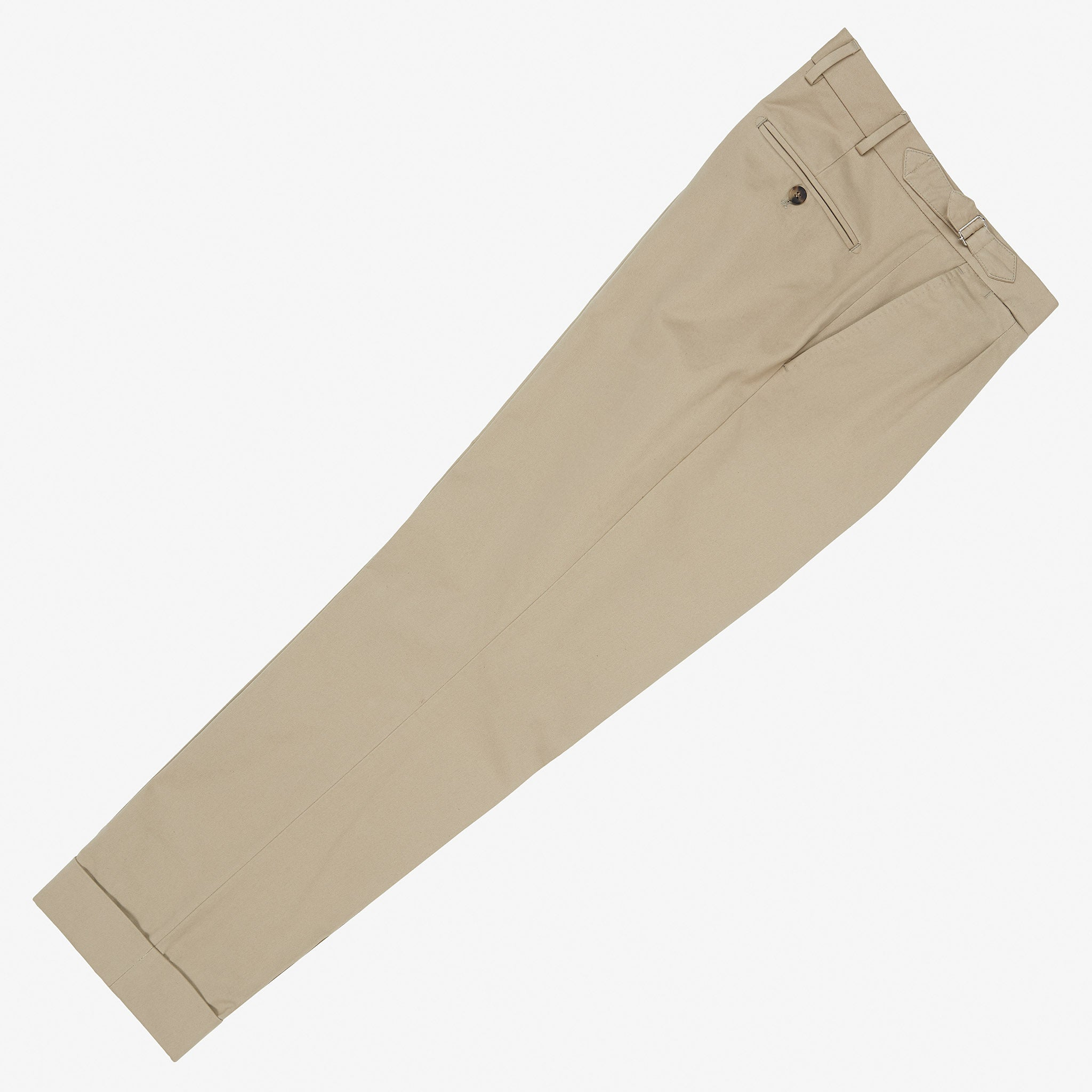 Garment Washed Cotton Trouser Stone