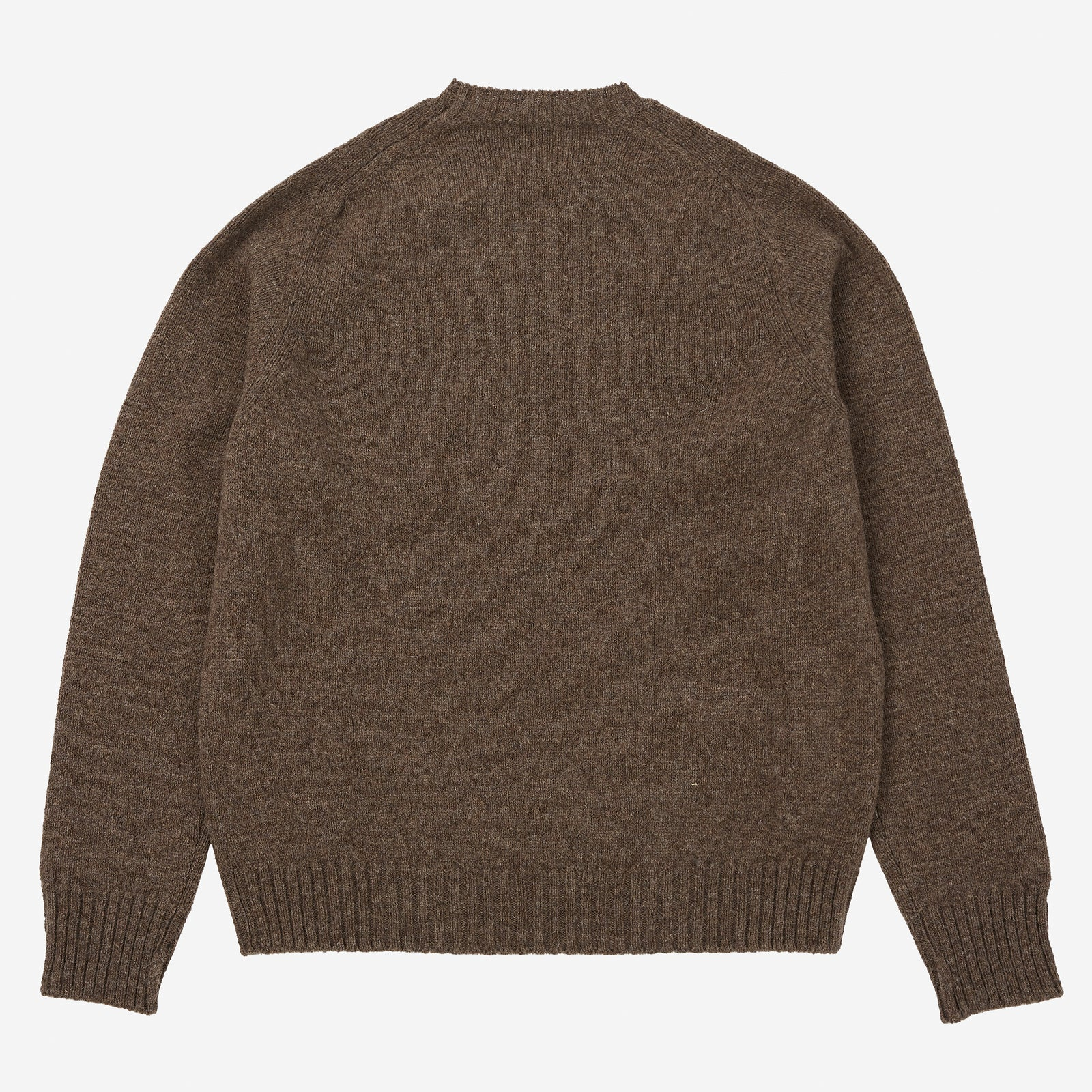 Crewneck Saddle Shoulder Shetland Brown