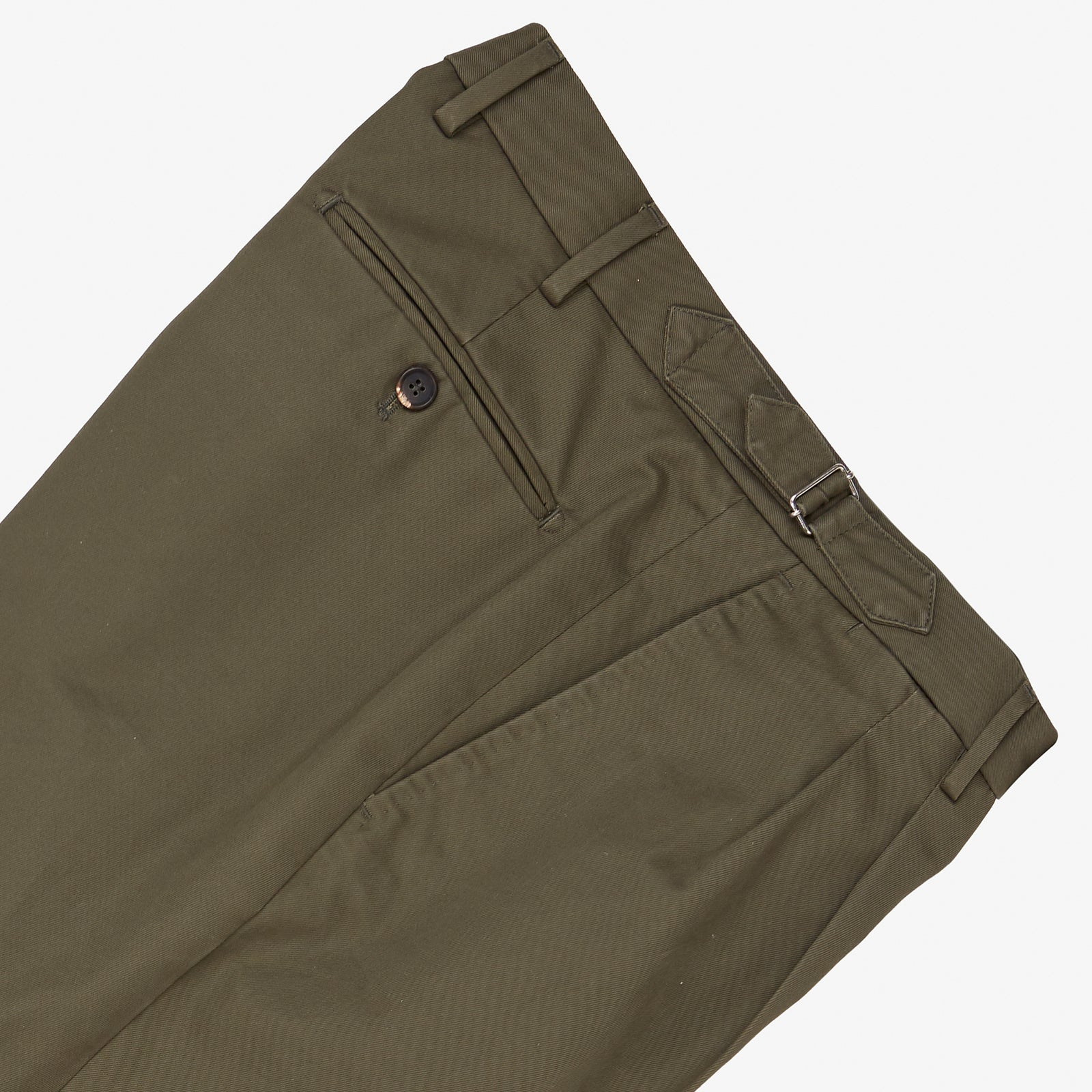 Garment Washed Cotton Trouser Green