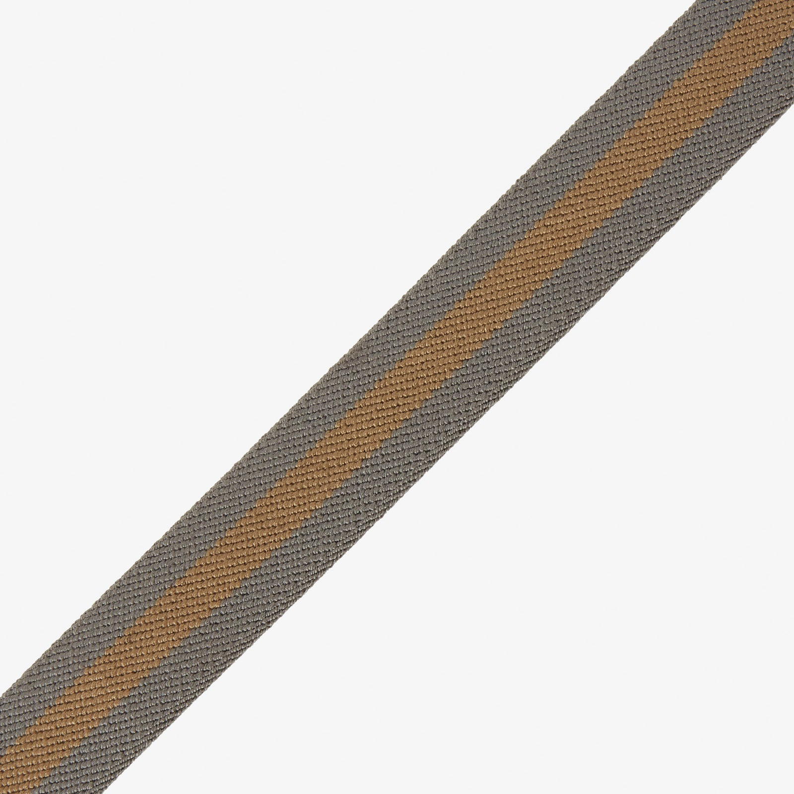 Webbed Belt Canvas Suede Gold Grey