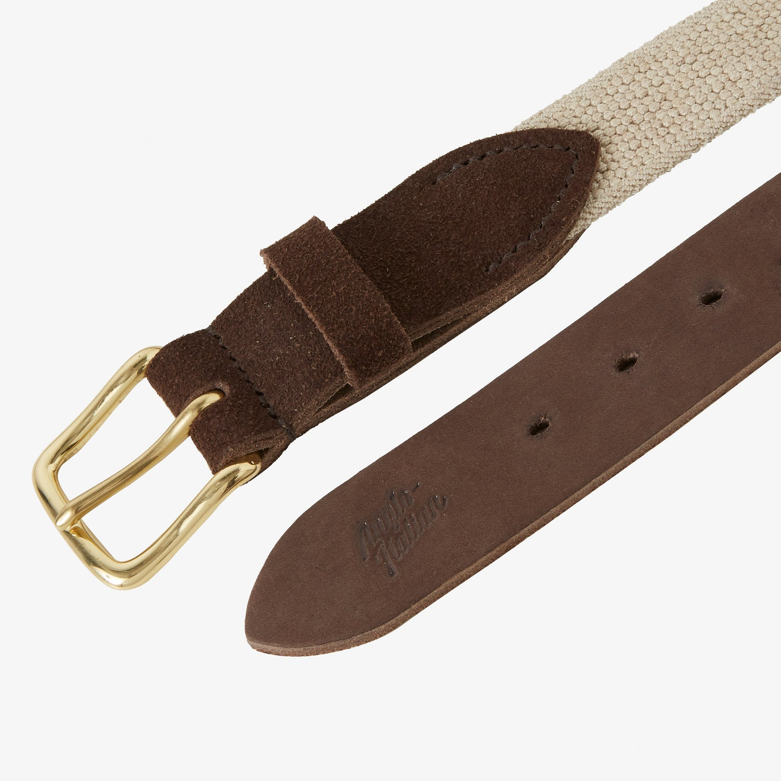 Webbed Belt Canvas Suede Taupe