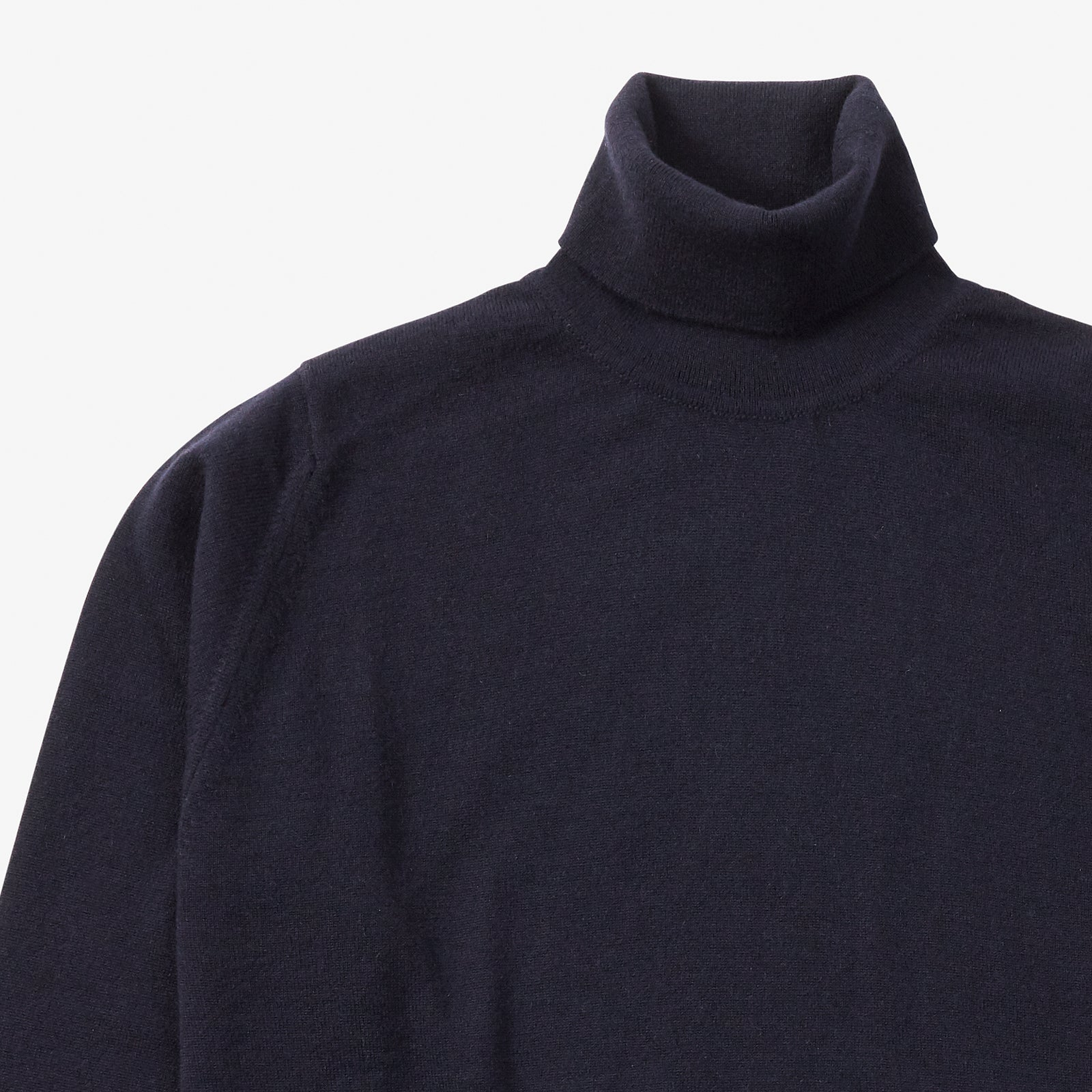 Roll Neck Cashmere Navy