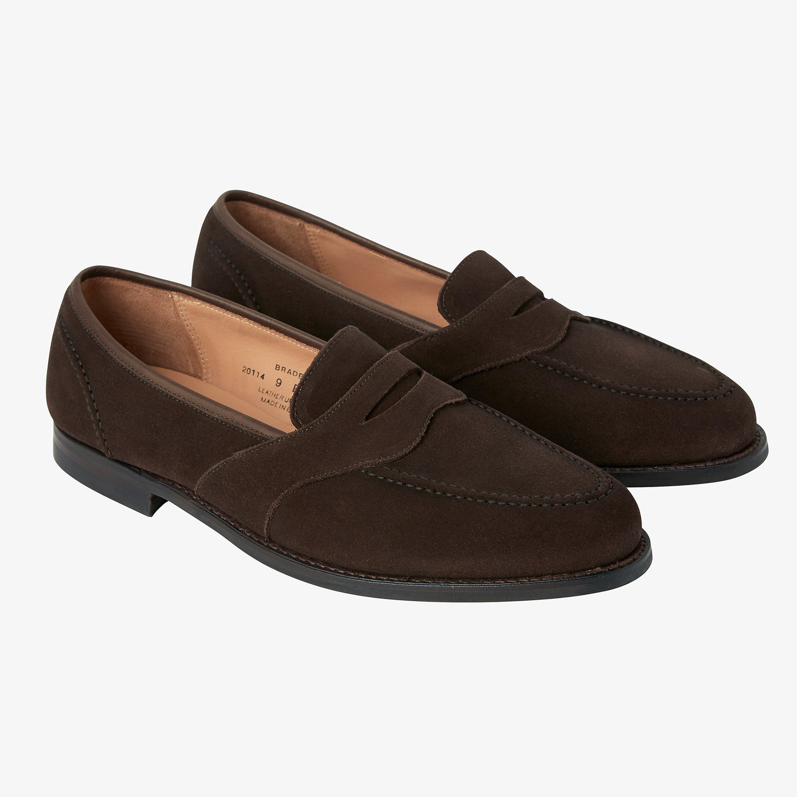 Crockett & Jones Bradbourne Loafer Brown Suede City Sole