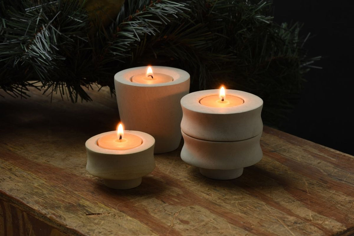 Dancing Riverstone Candleholders