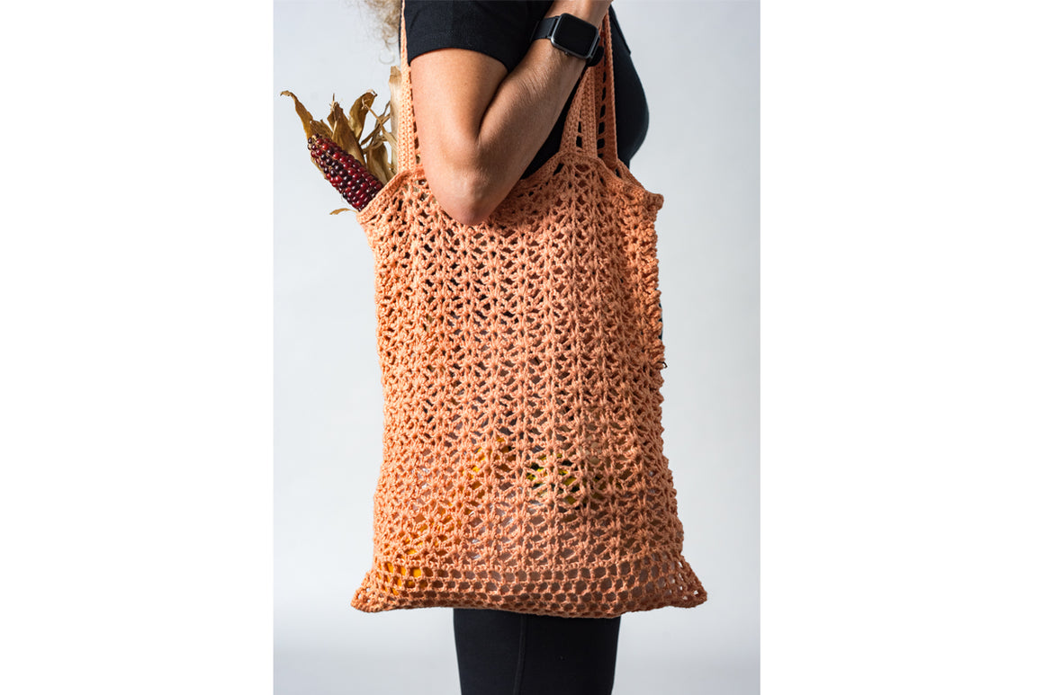 Crocheted Cosmos Market Bag