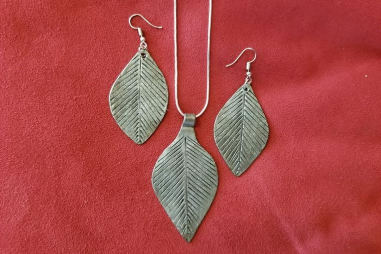 Leaf Medallion Earrings