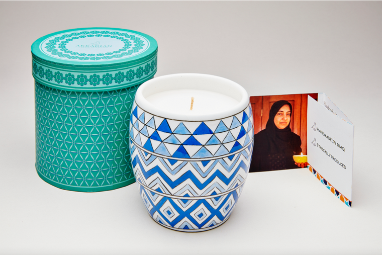 Sapphire Mosaic Candle