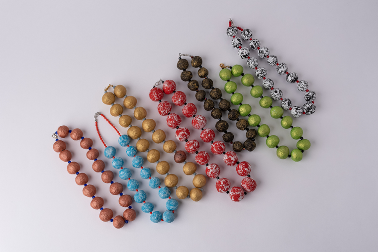 Recycled Paper Bead Necklaces
