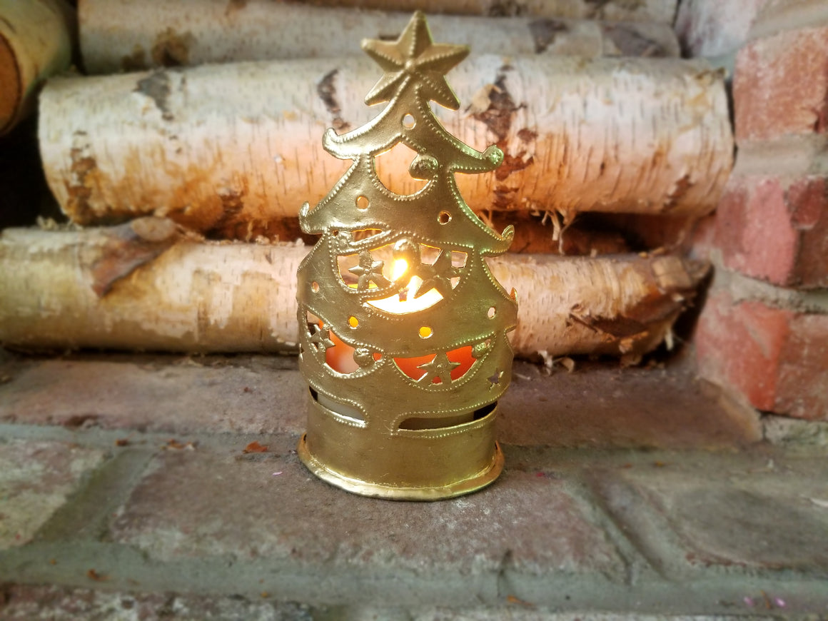 Christmas Tree Holder with Candle