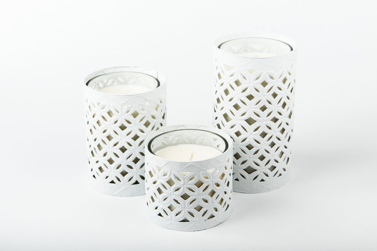 White Arabesque Luminaries