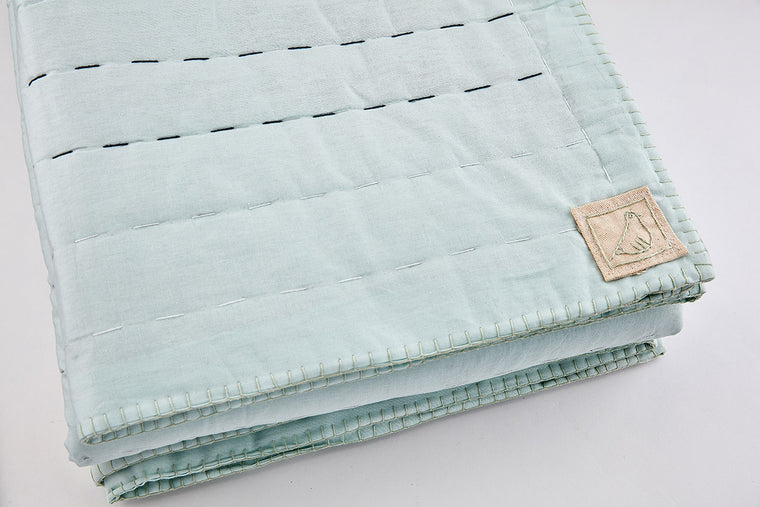 Mint Running Stitch Quilt