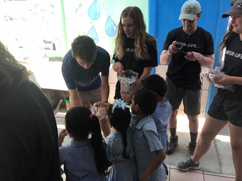 Manna supporters sent 32,000 of clean water to children in Costa Rica in March! The filters were delivered by students at Summit HS who led this project.
