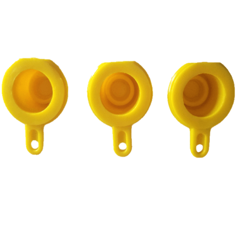 BLITZ Yellow Gas Spout Caps (pack of 3)