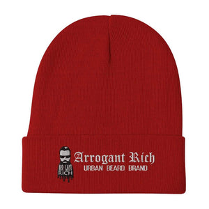 Arrogant Rich Logo Branded Beanie | 60/40 cotton/acrylic |