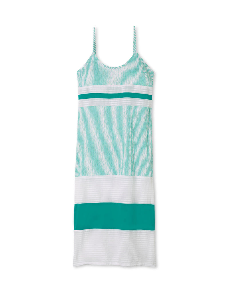 Teal Seersucker/White/Sea Green