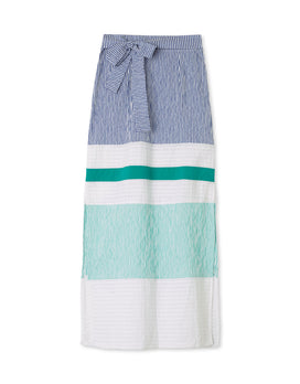 Navy Seersucker/White/Teal