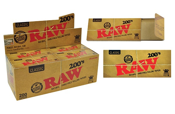 RAW Classic Creaseless Kingsize Slim 200's