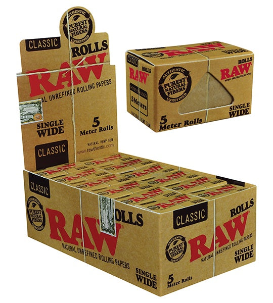 RAW Classic Single Wide Rolls 5 Meters