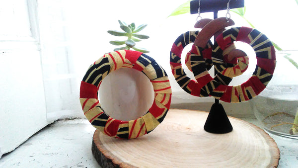 Red + Black Kwacha Bangle
