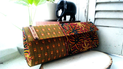 Earth Tone Clutch (Kwacha Collection)