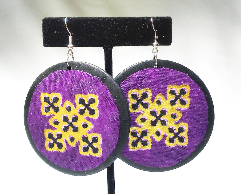 1_1 Kwacha Earrings (Solid Round) Wholesale