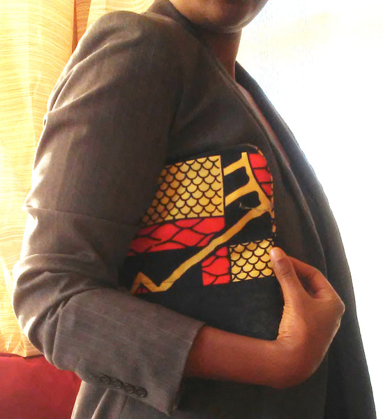 Yellow + Orange Wala Clutch