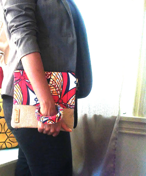 Red + White Wala Clutch