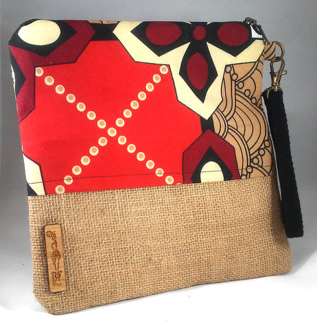 Maroon + Red Wala Clutch