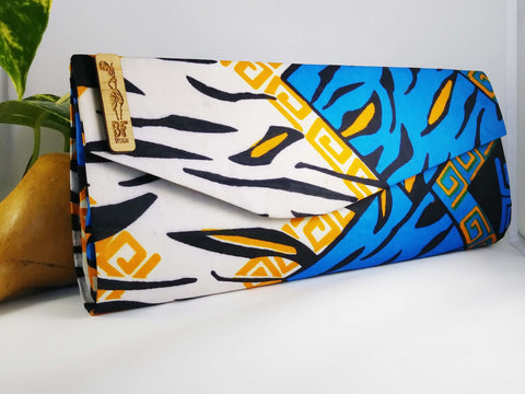 Blue + White Clutch (Kwacha Collection)