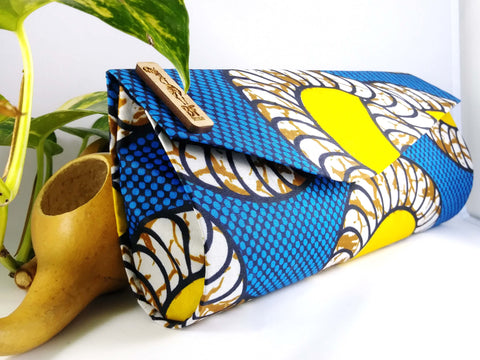 Blue + Yellow Clutch (Kwacha Collection)