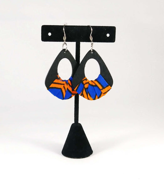 Orange + Blue Wala Earrings