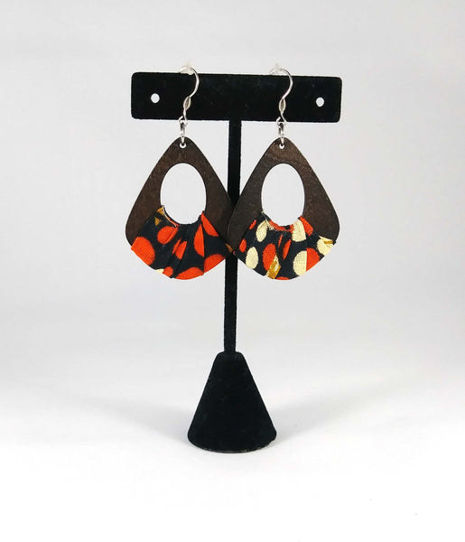 Orange + Black Wala Earrings