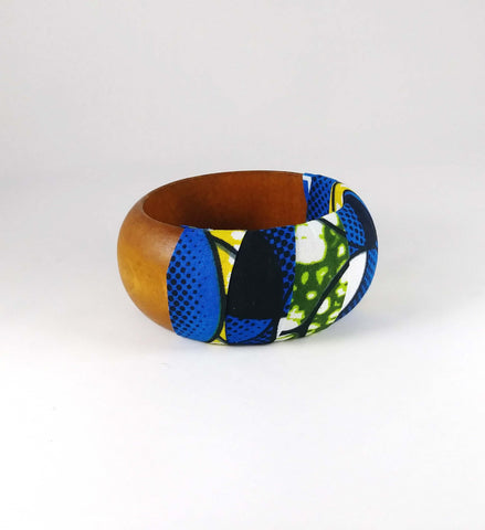Blue + Green Kwacha Bangle