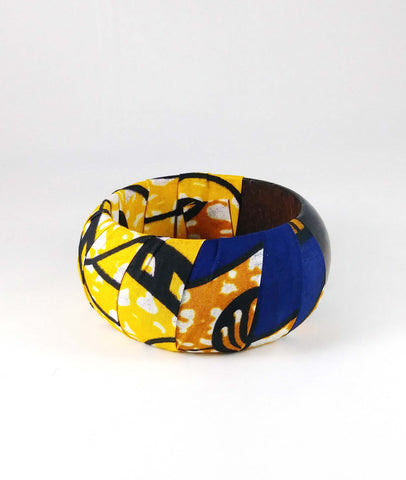 Yellow + Purple Kwacha Bangle