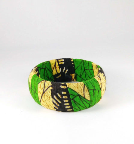 Green + Yellow Kwacha Bangle