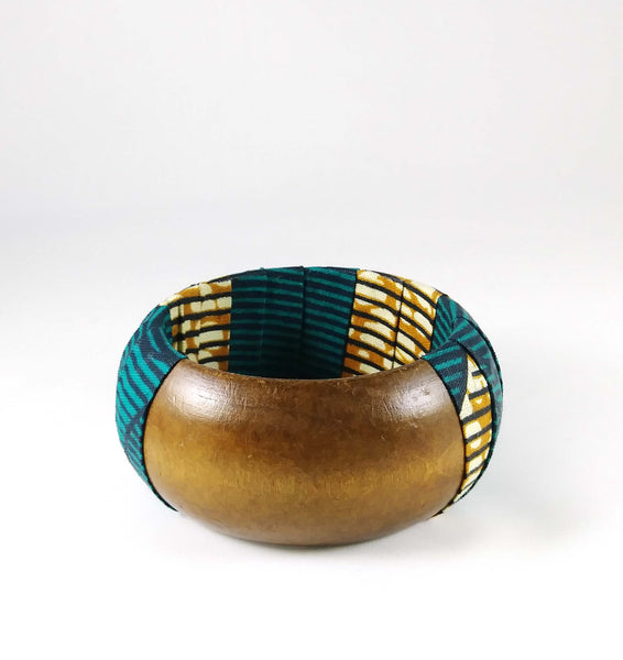 Teal + Brown Kwacha Bangle