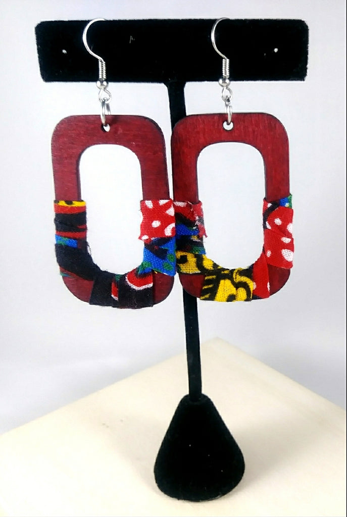 Red Square Wala Earrings