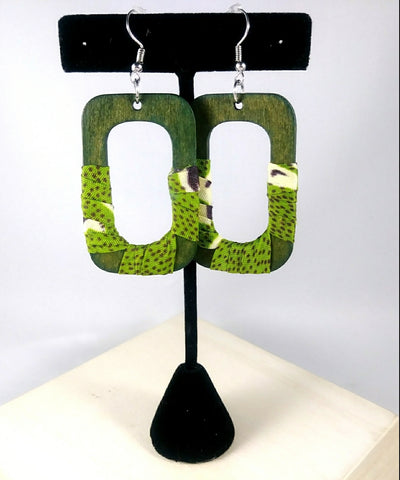 Green Square Wala Earrings