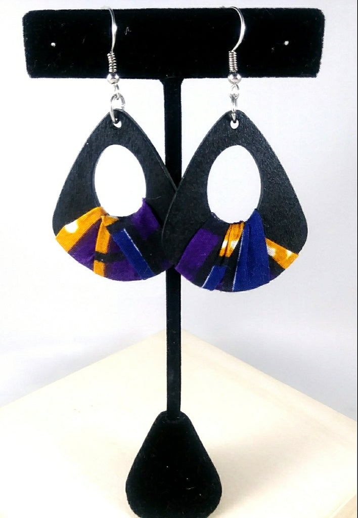 Purple + Black Wala Earrings