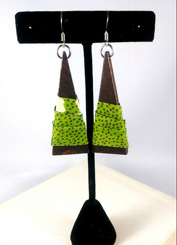 Green Triangle Wala Earrings