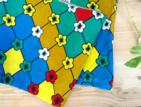 Primary Color Kwacha Head Wrap
