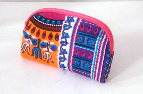 Orange + Purple Dashiki Clutch