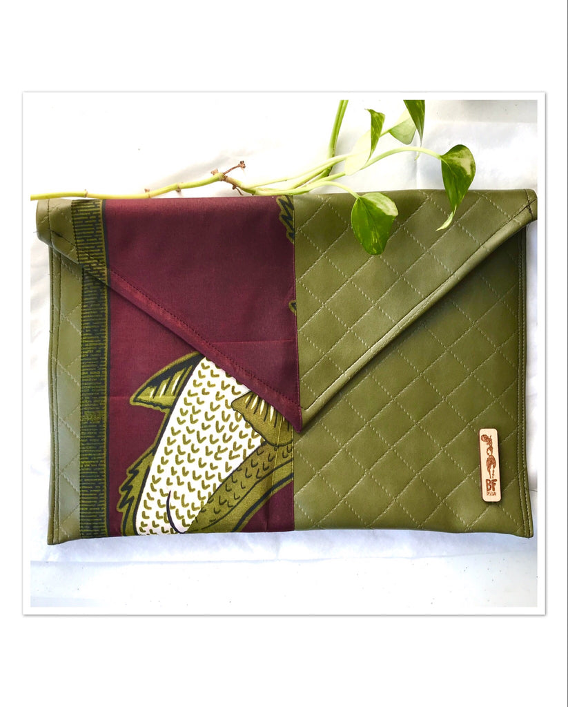 Green Envelope Clutch (Kwacha Collection)