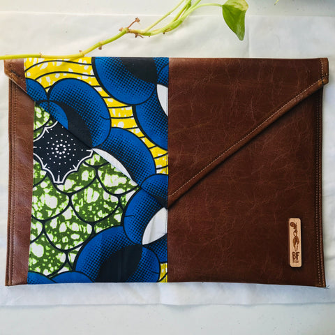 Blue + Green Envelope Pouch (Kwacha Collection)