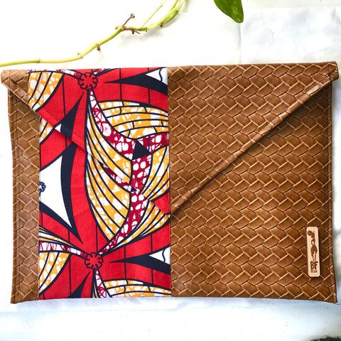Red  Woven Envelope Pouch (Kwacha Collection)