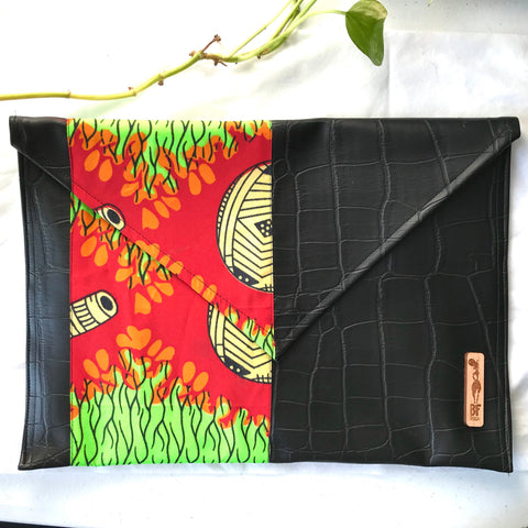 Red + Green Envelope Pouch (Kwacha Collection)