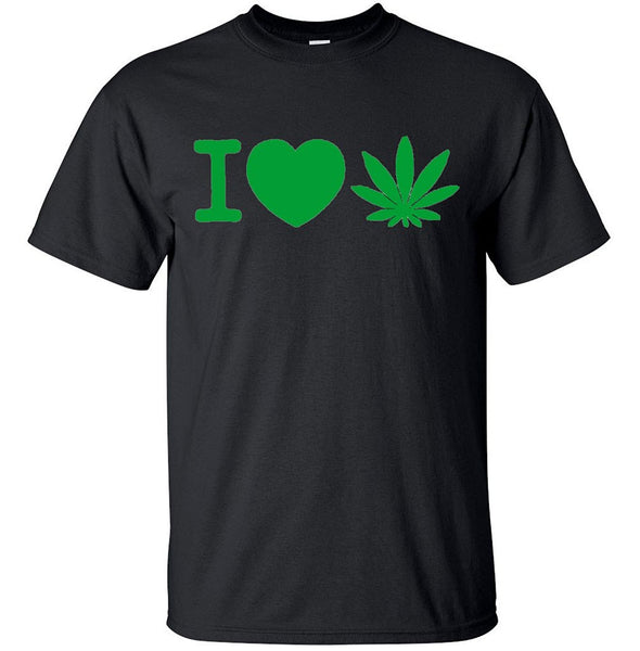 I love Weed Tshirt for Man